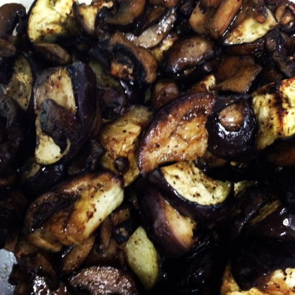 eggplant and mushrooms 2
