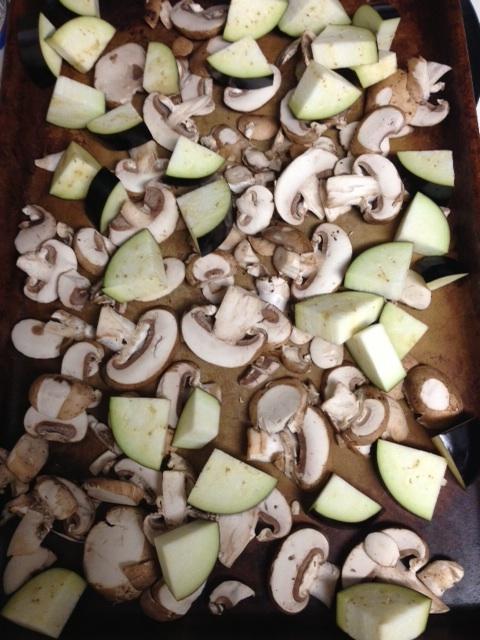 eggplant & mushrooms