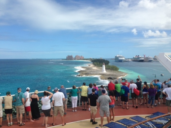 Port Day - Nassau, Bahamas. That's Atlantis in the background.